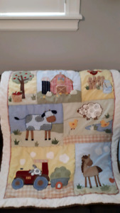 Kid's Line Farm Crib Bedding Set