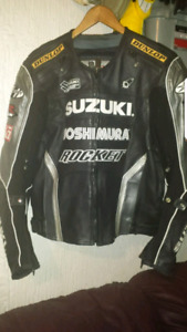 Men's Heavy Leather Riding Jacket