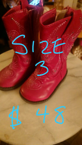 Size 3 Baby cowboy boots