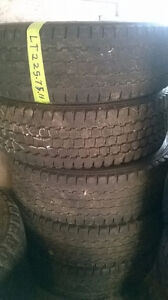 Four Bridgestone Blizack LT225 75 R16 tires.