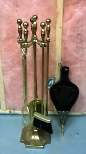Solid Brass Fireplace Tools