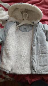 Joli Manteau gris de marque Natalys (Printemps-Automne) 36 mois