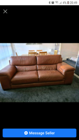 Free. 3 piece suite. Brown. Free