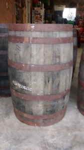 Old whiskey barrels
