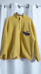 VTG Patagonia Snap T Yellow And Purple Men's Pullover Sweater