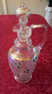 Vintage 3 leaf clover decanter
