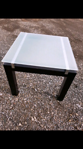Glass modern side accent end table -