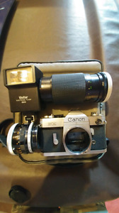 Cannon FX camera with 2 lens and case