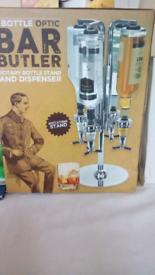 4 bottle optic bar butler rotary bottle stand and dispencer