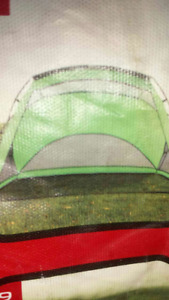 green beach or half tent and 2 beach chairs great cond