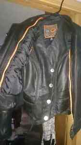 Classic Leather Riding Jacket and Vest