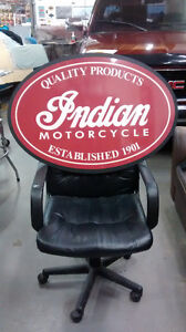 INDIAN MOTORCYCLE PARTS AND SERVICE SIGNS