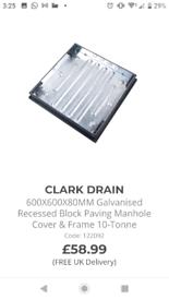 Clarke drain covers lockblock paving £20 each