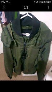 Brand new mens g-star bomber jacket military size small