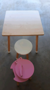 Childrens Table and Stools