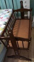 Solid Wood Cradle with organic mattress
