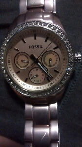 Pink Fossil Woman's Watch
