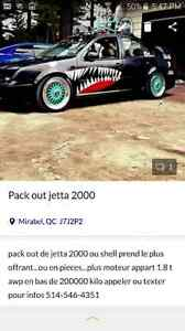Pack out jetta 2000