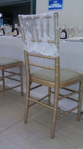 Lace caps Rental for Chiavari Chairs