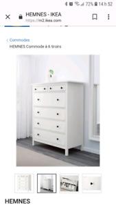 Recherché commode Hemnes Ikea