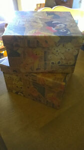 5.00 for 2 NEW Decorative Teddy Bear Boxes. Windsor Region Ontario image 1