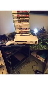 Xbox 360 with 20+ games and 3 controllers
