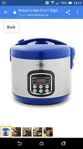 Robert Irvine 5-in-1 Digital Programmable 10 cup MultiCooker