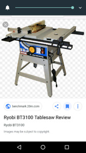 Large Ryobi table saw