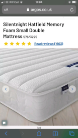 Silent night mattress small double