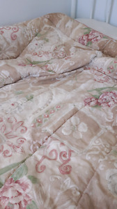 Comforter set with curtains