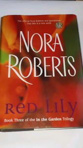 nora Roberts Red lilly Hardcovered book