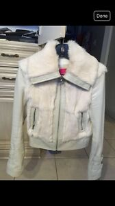 Leather and Rabbit fur Mackage Jacket - size S.