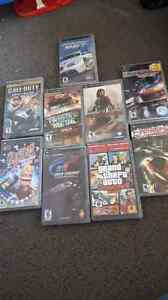 10 PSP GAMES PICKUP IN DURHAM ONT