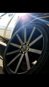 "24"" dub rims with tires 305/35/24"