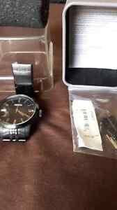 Fossil watch black and silver.