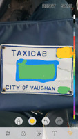 Taxi plate for sale . Oh for rent city of Vaughan