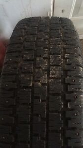 Studded winter tires 195/75/14