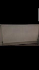 Radiator - Double panel 1200x600 with valves £20