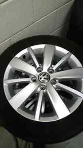 "VW Golf original 16"" Rims + Tires"