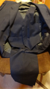mens pinstriped suit