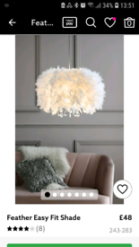Feather ceiling light from Next
