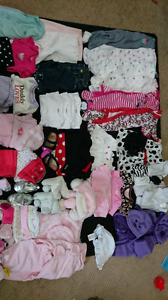 Baby girl newborn and 0-3 lot! 50+ items!
