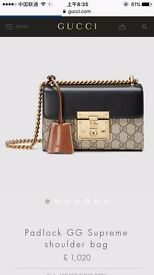 Gucci GG padlock brand new!!!100% genuine with dust bag,tickets,carrier bag.