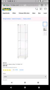 Display Case, Glass Ikea