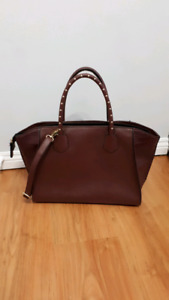 Aldo Maroon laptop purse with built in laptop section