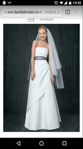 Never worn wedding dress size 12-14