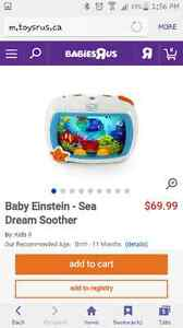 Baby Einstein crib sea soother mobile