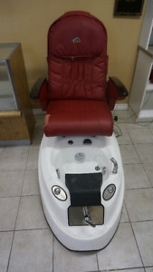 Spa Pedicure Chair with Wash Basin & Faucet Fixture For Sale