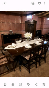 9 piece antique Duncan Phyfe dining room set