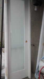 new left hinged pantry door with frosty glass panel